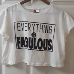 NWOT Divided Everything is Fabulous crop t…